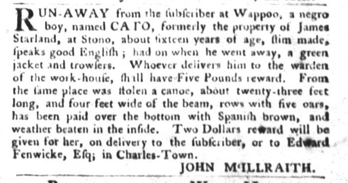 Feb 16 - South-Carolina Gazette and Country Journal Slavery 7