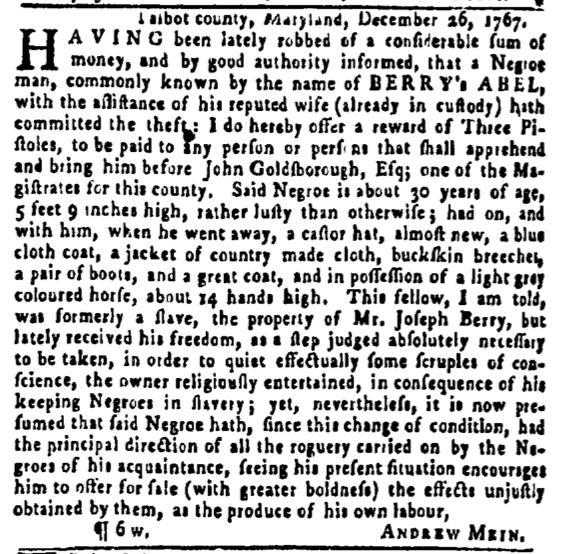 Feb 18 - Pennsylvania Gazette Slavery 2
