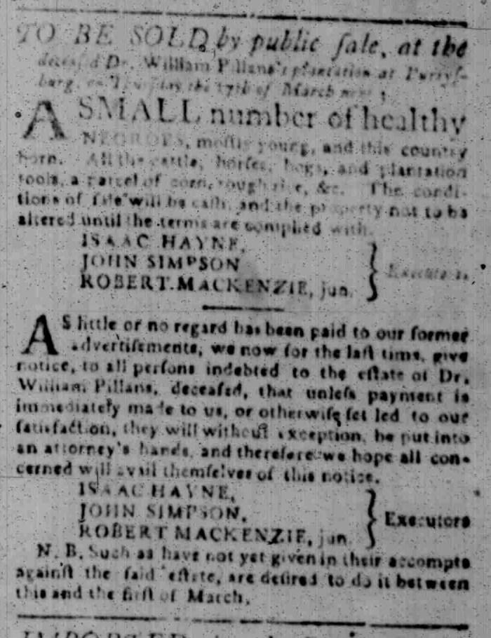 Feb 22 - South Carolina Gazette Slavery 10