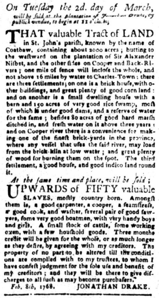 Feb 22 - South Carolina Gazette Slavery 13
