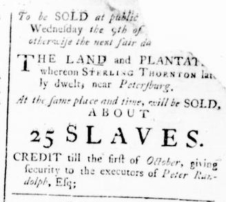 Feb 25 - Virginia Gazette Rind Slavery 4