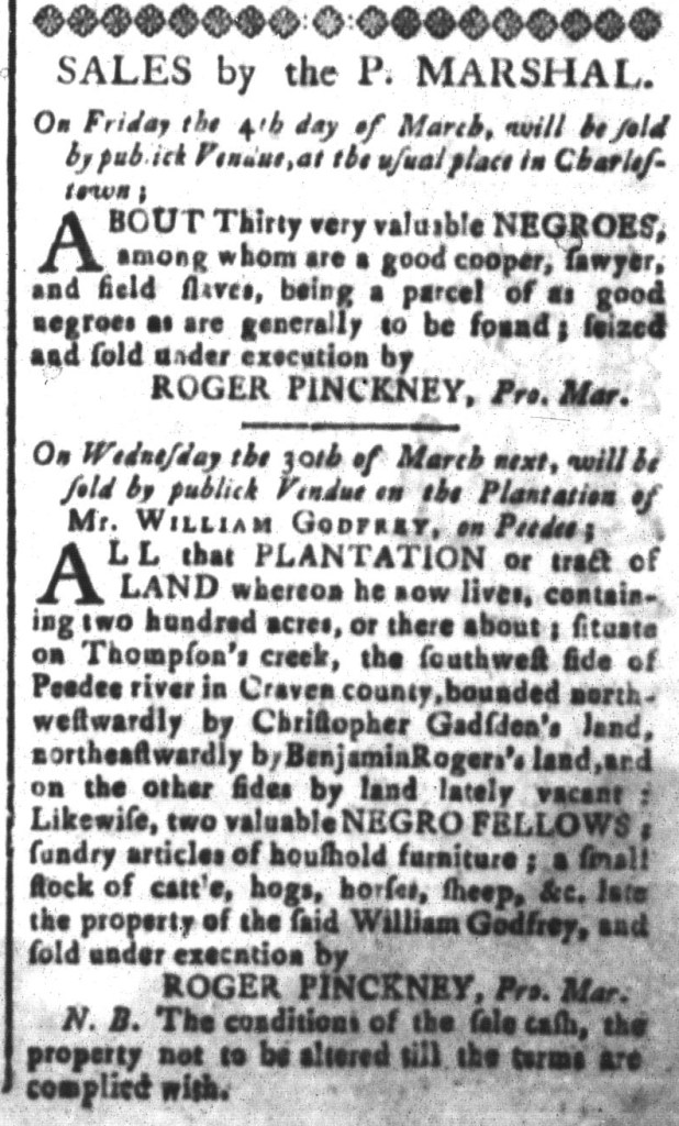 Feb 26 - South-Carolina and American General Gazette Slavery 6