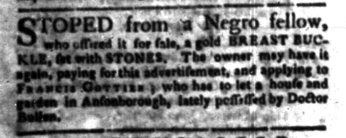 Feb 29 - South Carolina Gazette Slavery 6