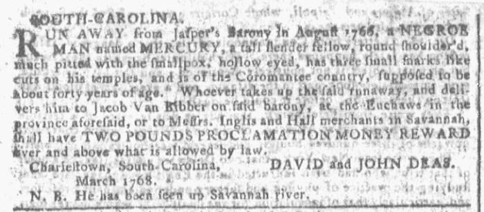 Apr 6 - Georgia Gazette Slavery 2