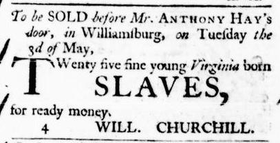 Apr 7 - Virginia Gazette Purdie and Dixon Slavery 2