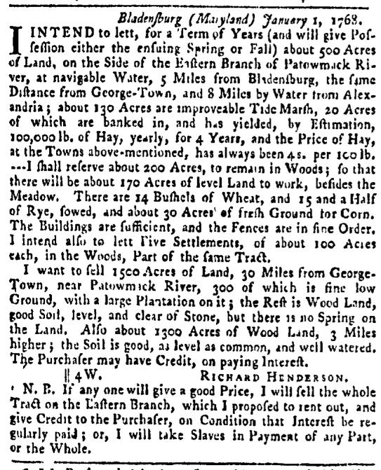Mar 10 - Pennsylvania Gazette Slavery 2