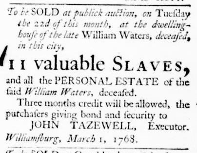 Mar 10 - Virginia Gazette Purdie and Dixon Slavery 4