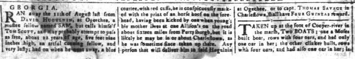 Mar 11 - South-Carolina and American General Gazette Slavery 13