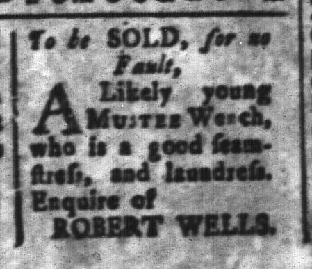 Mar 11 - South-Carolina and American General Gazette Slavery 14