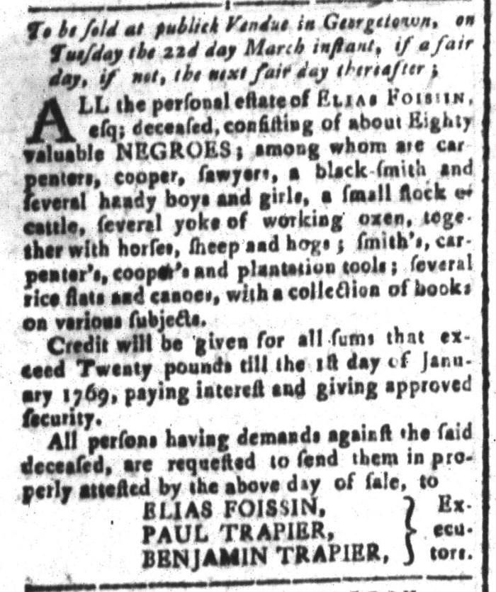 Mar 11 - South-Carolina and American General Gazette Slavery 9