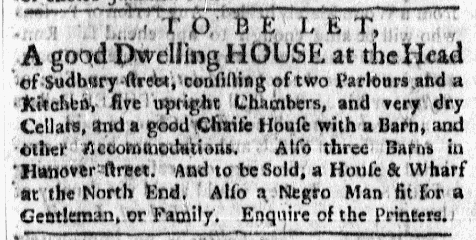 Mar 14 - Boston Evening-Post Slavery 1