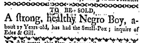 Mar 14 - Boston-Gazette Slavery 1