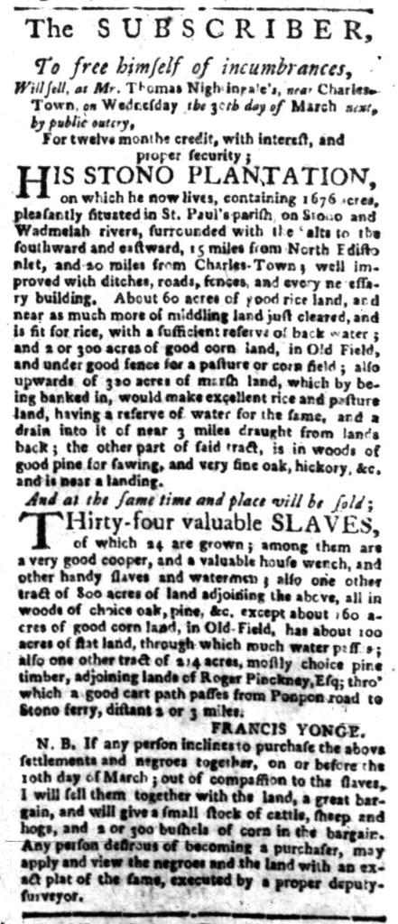 Mar 14 - South Carolina Gazette Slavery 3