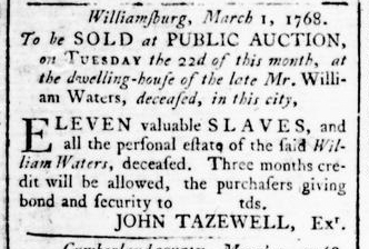 Mar 17 - Virginia Gazette Rind Slavery 3