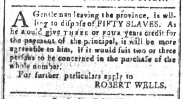 Mar 18 - South-Carolina and American General Gazette Slavery 3