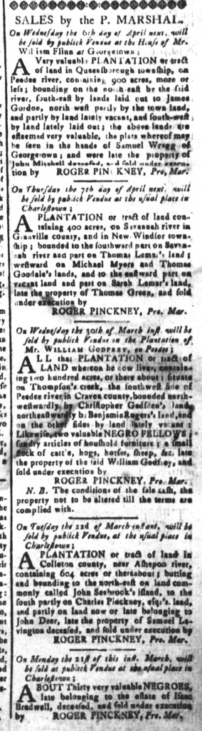 Mar 18 - South-Carolina and American General Gazette Slavery 9
