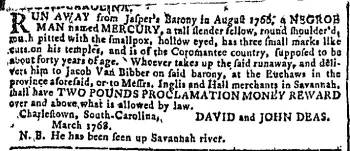 Mar 23 - Georgia Gazette Slavery 2