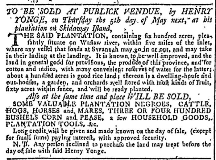 Mar 23 - Georgia Gazette Slavery 5