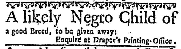 Mar 24 - Massachusetts Gazette Slavery 1