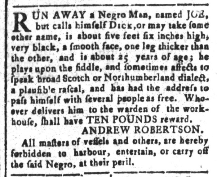 Mar 25 - South-Carolina and American General Gazette Slavery 12