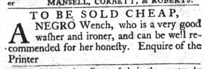 Mar 29 - South-Carolina Gazette and Country Journal Slavery 1
