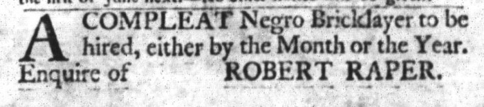 Mar 29 - South-Carolina Gazette and Country Journal Slavery 5