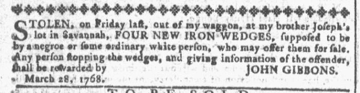 Mar 30 - Georgia Gazette Slavery 2