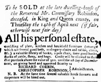Mar 31 - Virginia Gazette Purdie and Dixon Slavery 2