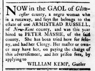 Mar 31 - Virginia Gazette Rind Slavery 5