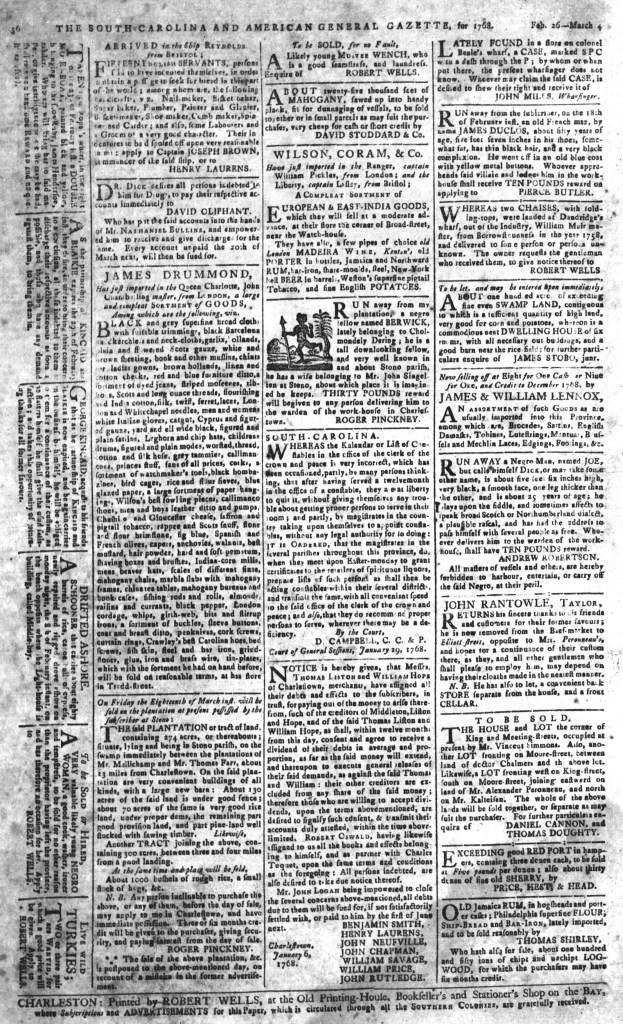 Mar 4 - South-Carolina and American General Gazette Page 6