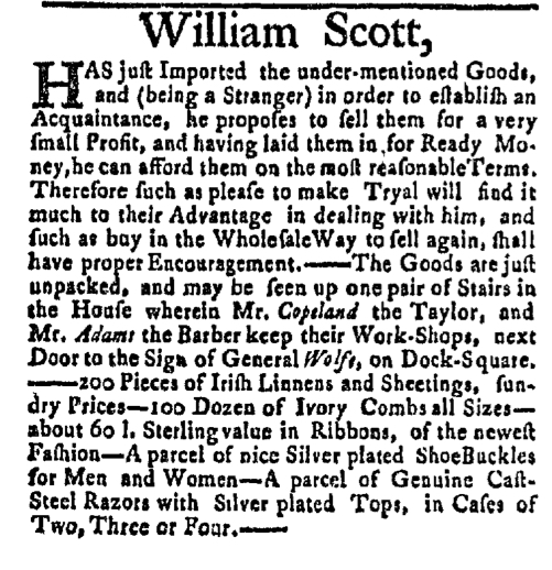 Mar 7 - 3:7:1768 Boston Post-Boy Supplement