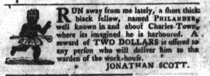 Mar 8 - South-Carolina Gazette and Country Journal Slavery 6