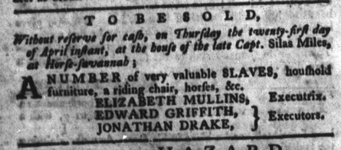 Apr 12 - South-Carolina Gazette and Country Journal Slavery 7
