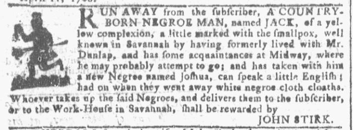 Apr 13 - Georgia Gazette Slavery 2