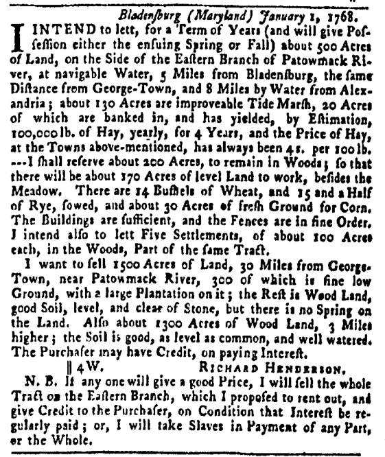Apr 14 - Pennsylvania Gazette Slavery 7