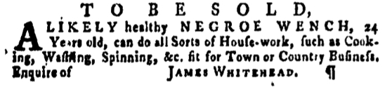 Apr 14 - Pennsylvania Gazette Supplement Slavery 1