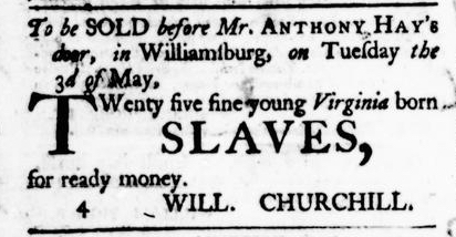 Apr 14 - Virginia Gazette Purdie and Dixon Slavery 3
