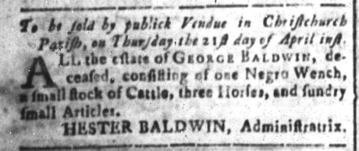 Apr 15 - South-Carolina and American General Gazette Slavery 3