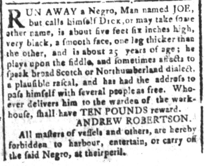 Apr 15 - South-Carolina and American General Gazette Slavery 7