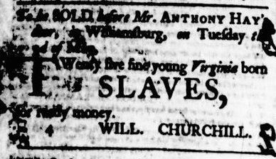 Apr 21 - Virginia Gazette Purdie and Dixon Slavery 5