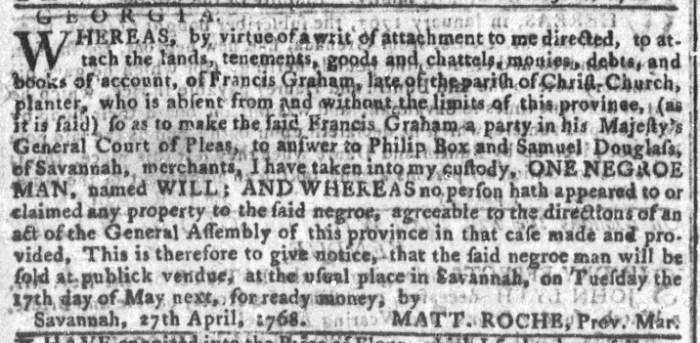 Apr 27 - Georgia Gazette Slavery 2