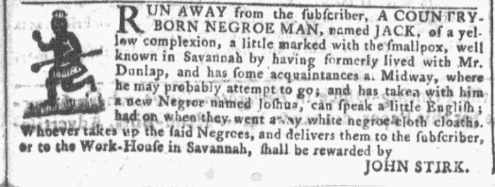 Apr 27 - Georgia Gazette Slavery 3