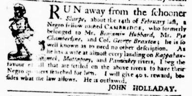 Apr 28 - Virginia Gazette Purdie and Dixon Slavery 3