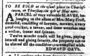 Apr 29 - South-Carolina and American General Gazette Slavery 6