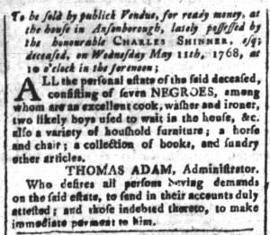 Apr 29 - South-Carolina and American General Gazette Slavery 7