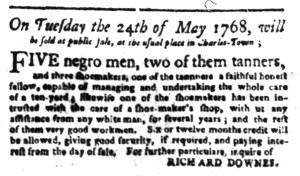 May 2 - South-Carolina Gazette Slavery 2