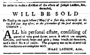 May 2 - South-Carolina Gazette Slavery 3