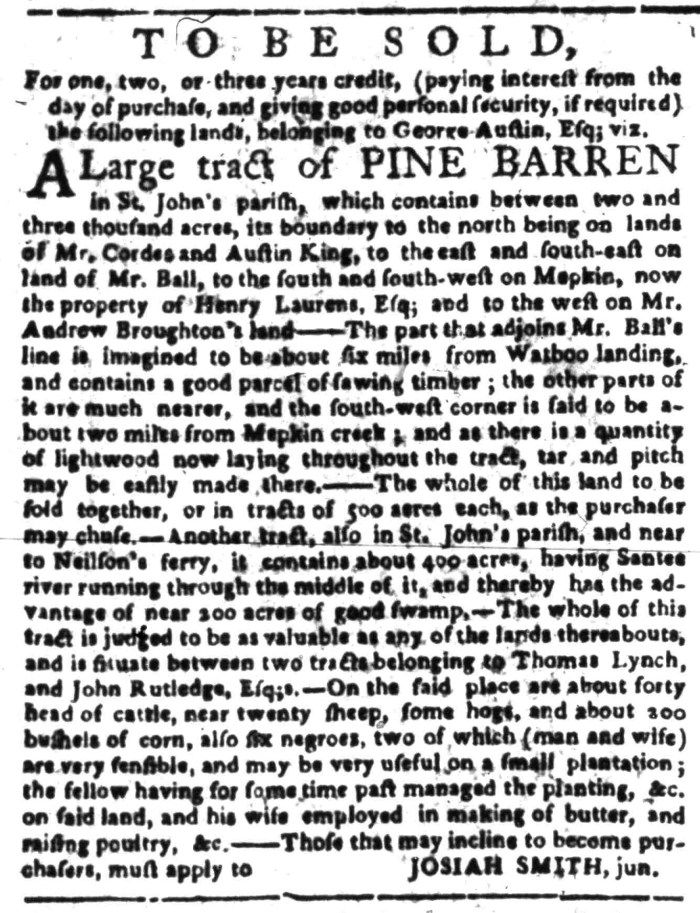 May 2 - South-Carolina Gazette Slavery 8