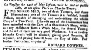 May 3 - South-Carolina Gazette and Country Journal Slavery 2