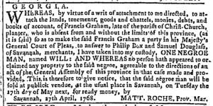 May 4 - Georgia Gazette Slavery 3